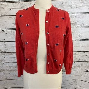 Brooks Brothers Red embroidered Cardigan Sweater